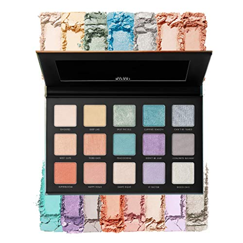 Milani Gilded Pastel Eyeshadow Palette - 15 Colors Highly Pigmented Matte Shimmer Glitter Eye Shadow Makeup Palette Kit