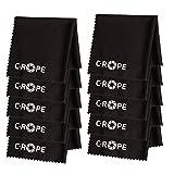 C-Rope Mikrofaser-Reinigungstuch für Kamera, Objektiv, Laptop als Putztuch, 10er Pack, schwarz