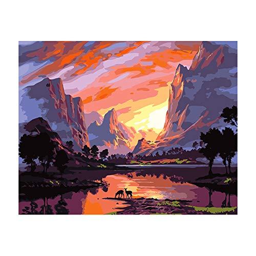 Kit digital de pintura al óleo por números, pintura en lienzo para decoración de pared del hogar