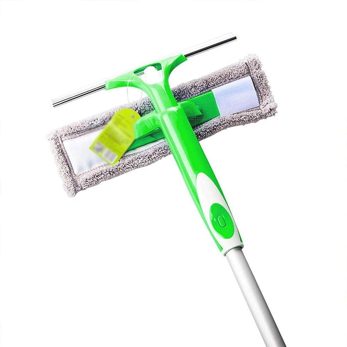 韓国語賠償大理石JJYPY ガラスワイパー-両面ガラスウィンドウクリーニングシリコンスキージシャワースクリーンウォッシュウォッシャーワイプマイクロファイバーパッドスクイージ (Color : Green)