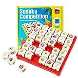 Herefun Jeu De Société Fruit Sudoku, Logic Sudoku Puzzle Games Jouet de Plateau de Sudoku, Jeu de société Jeu éducatif pour Enfants Cadeau de 3-9 Ans Bambins garçons et Filles