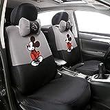 Xljh 12 stücke Niedlichen Cartoon Universal Autositzbezug Mickey Sitzbezüge Innen Zubehör Sandwich Stoff Auto Seat Protector,C