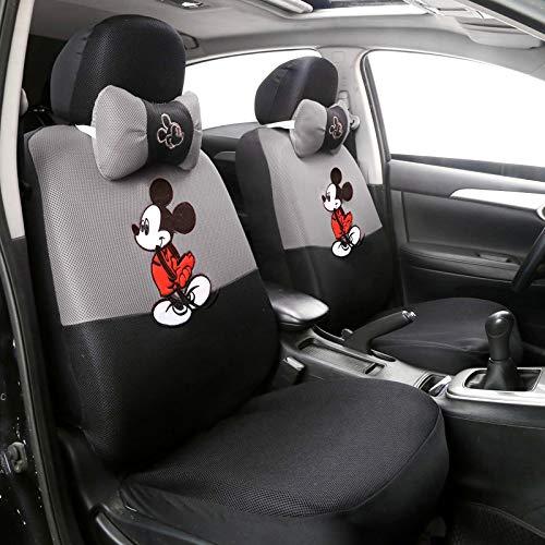 Xljh 12pcs Cute Cartoon Universal Asiento de la Cubierta del Asiento de Mickey Fundas Interiores Accesorios de Tela Sandwich Fabric Protector de Asiento de Coche,C