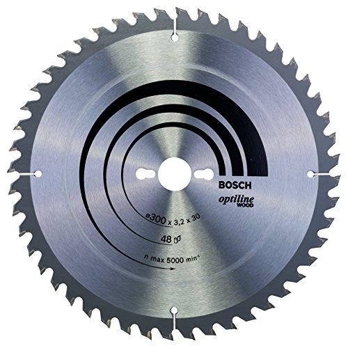 Bosch Professional Kreissägeblatt Optiline Wood (für Holz, 300 x 30 x 3,2 mm, 48 Zähne, Zubehör Kreissäge)
