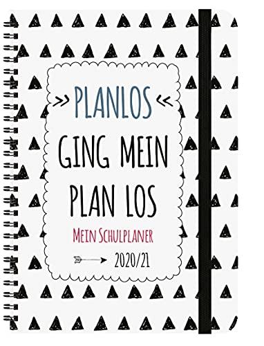 Schülerkalender Planlos 2021/2022: mit 12-monat.-Kalendarium von August 2021 bis Juli 2022. Pro Woche 2 Seiten mit viel Platz für Notizen. Format 14,8 x 21 cm