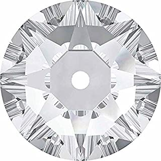 3188 Swarovski Sew On Crystals Lochrose Sequins Crystal | 4mm - Pack of 50 | Small & Wholesale Packs