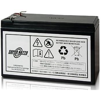 スーパーナット UPS用バッテリーキット RBC17J-S■RBC17J 互換■APC ES 750/ES 725用 RBC17J-S