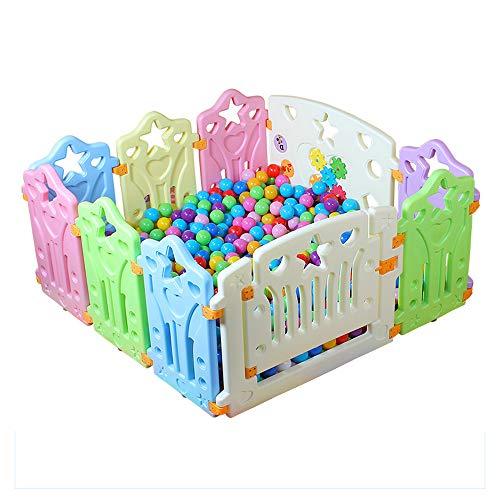 Barrières de lit LHA Barrière de sécurité intérieure pour bébé Baby Walk Crawl -115 * 115 * 60cm