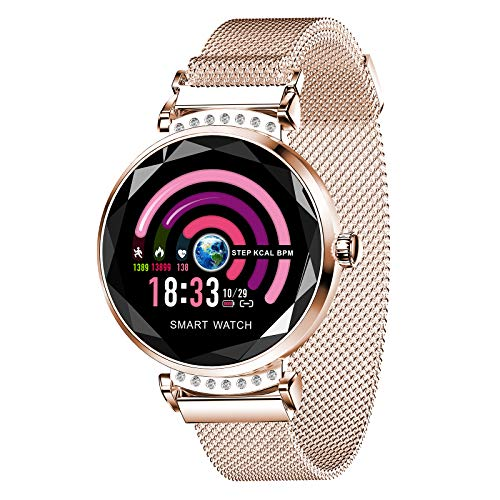 FMSBSC Smart Watch for Women, Fitness Tracker for Android Ios, Fitness Tracker with Heart Rate And Sleep Monitor, Activity Tracker with Pedometer Smartwatch Step Counter,Gold