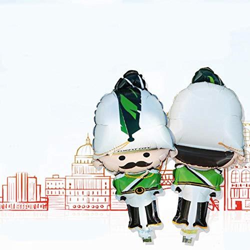 SUPERLOVE 10pcs Guardia Globo De Papel De Aluminio Personaje De Dibujos Animados con Globo De Papel De Aluminio