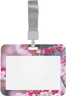 Porte-badge de sécurité Oiseau japonais avec badge de support d'identification Sakura avec lanière Porte-badge de sécurité...