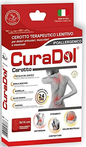 Cura Farma 26056 Curadol - Entzündungshemmendes medizinisches Klebepflaster, 1 Schachtel mit 5 Pflastern