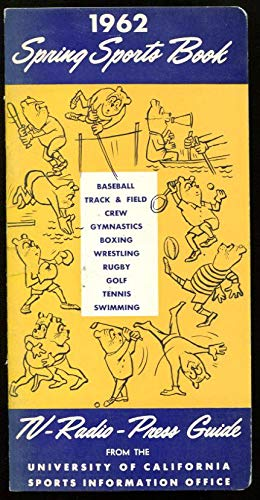 1962 CAL Bears Spring Sports Media Guide Track Field Baseball Golf Ex Cond - College Programs