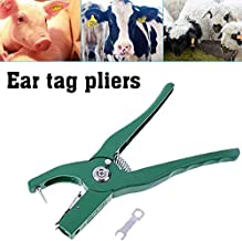 Ear tag Pliers Animal Control Device Green Metal Ear Thorn Tongs Swine Cow Sheep Rabbit Identification Tool