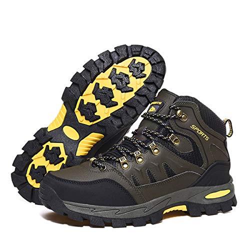 Zapatillas Trekking Hombre Mujer Trail Running Antideslizantes Zapatos de Senderismo Transpirable Botas Montaña Bajas al Aire Libre Verde 40 EU