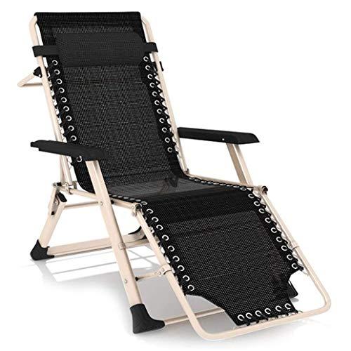 YANG Sillas Zero Gravity Sillas reclinables Plegables para Patio Patio al Aire Libre Playa, sillones reclinables de Gran tamaño reclinables Cero Lounge