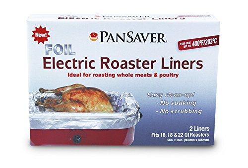PanSaver Foil Electric Roaster Liners, 18-Pack (36 Liners)