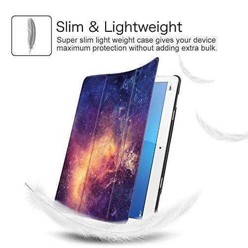 Fintie Huawei Mediapad M3 Lite 10 Hülle - Ultra Dünn Superleicht SlimShell Case Cover Schutzhülle Etui Tasche mit Zwei Einstellbarem Standfunktion für Huawei Mediapad M3 Lite 10 Zoll, Die Galaxie - 5