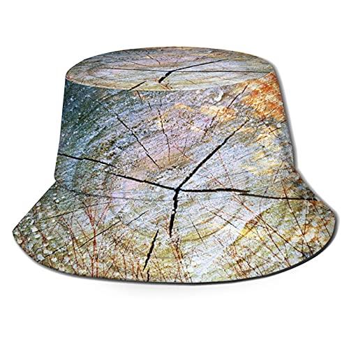 Sombreros de Cubo Plegables,Doble exposición de árboles en Maderas y Tron,Sombrero de...