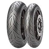 Coppia gomme pneumatici Pirelli Diablo 120/70-15 150/70-14 K YMCO XCITING 400 500i