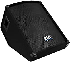 Seismic Audio - 12 Inch Floor Wedge Style Monitor - Studio, Stage, or Floor use - PA/DJ Speakers - Bar, Band, Karaoke, Church, Drummer use