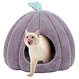 猫ハウス 猫用ベッド ドーム型 Trpambvia 冬用 ベッドマット ペットハウス ペットベッド 犬小屋 快適 柔らかい 暖かい 用寝袋 滑り止め 保温防寒