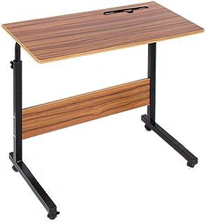 ベッドサイドテーブルサイドテーブル キャスター パソコンテーブル高さ調整 サイドデスク 小型テーブル 介護テーブル 凹溝付き 昇降サイドテーブル 介護支援 リビング80×40×71-90cm