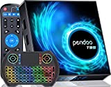 pendoo Android TV Box 10.0 4GB RAM 128GB ROM, T95 Android TV Box Allwinner H616 2.4G/5.8GHz WiFi Bluetooth, Android Box 10.0 with Wireless Mini Keyboard Ultra HD 6K HDR TV Box.