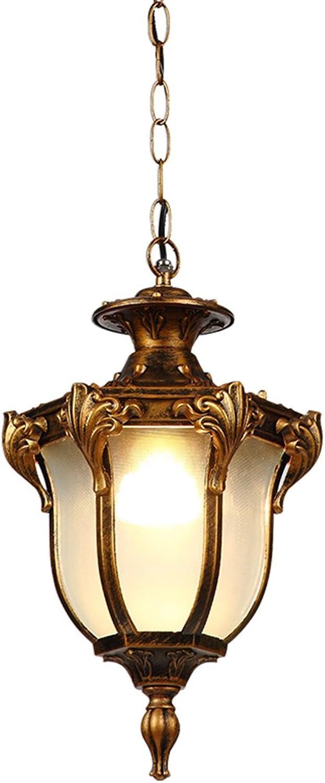 Chandelier Wasserdichter Leuchter, Balkon-Rostschutz-Leuchter-Patio-Leuchter im Freien Einzelner Kopf E27 (Farbe   A, gre   18.5  33CM)