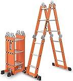 Escala heces escala de múltiples funciones de escala nacional del aluminio de aleación de escalera telescópica plegable engrosamiento silla elevadora escala de la derecha de 150 kg tecnol.