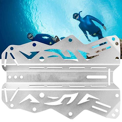 FOLOSAFENAR Superficie de Tratamiento Mate Placa Trasera de Buceo Ligera de Alta Resistencia, para Buceo técnico(Silver)