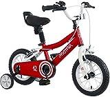 Moma Bikes Vélo 12' avec Petites Roues Inclus, Ideal partir de 3 Ans de 80 a 105cm Mixte Enfant, Rouge
