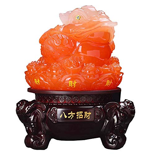 Feng Shui Ornament Money Frog Statue (Three Legged Wealth Frog Or Money Toad) Figurines Decoration, Attract Wealth And Good Luck