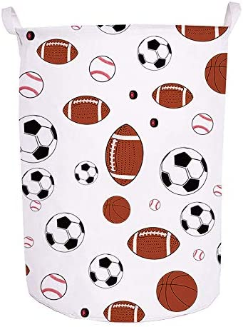 Runtoo 19 7 Large Sized Laundry Hamper Waterproof Foldable Canvas Sports Basketball Football product image