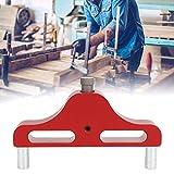 Strumento per centro di marcatura, Calibro per incisione in legno, Strumento per ricerca del centro in lega di alluminio con precisione di 1 mm, Pratico strumento per tracciare il(red)