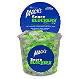 Mack's Snore BLOCKERS Soft Foam Earplugs - 100 Pair Tub - Individually Wrapped - Comfortable, High 32 dB Noise Reduction Ear Plugs for Snoring, Roommates and Travel Partners