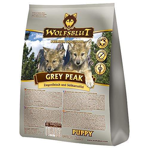 Wolfsblut | Grey Peak Puppy | 15 kg | Ziege | Trockenfutter | Hundefutter | Getreidefrei
