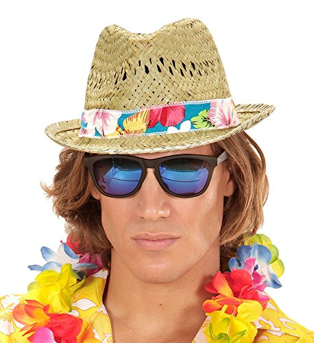 shoperama Strohhut Beach Boys Hawaii Party Festival Hippie Strand Hut Damen Herren Kostüm-Zubehör Damen Herren