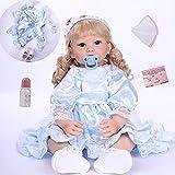 ZIYIUI Muñecos reborn 24 pulgadas niña reborn 60cm bebes reborn de silicona muñeca realista bebes re...