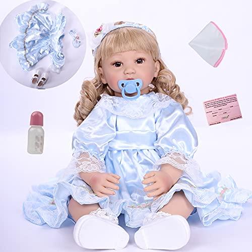 ZIYIUI Muñecos reborn 24 pulgadas niña reborn 60cm bebes reborn de silicona muñeca realista bebes reborn recien nacidos munecas bebes reales bebes reborn silicona blanda regalo de cumpleaños
