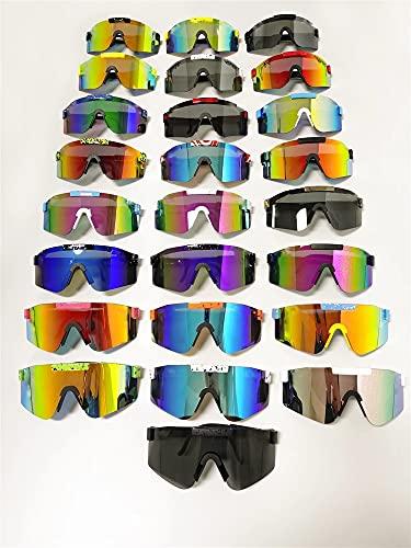 ASZX Rosa Dama Gafas de Sol Rojas Doble Gran Angular Hombres polarizados Espejo Lente tr90 Marco UV400 protección protección protección Seguridad 804 (Lenses Color : PV01 C23, Size : One Size)