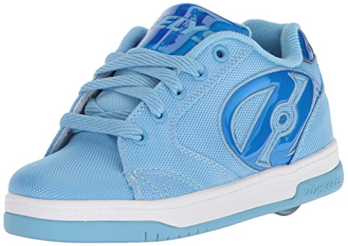 Heelys Girls' Propel 2.0 Tennis Shoe, Light Blue ballastic/Blue Hologram, 13c M US Big Kid