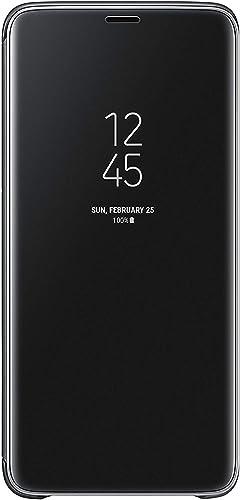 2021 Official Genuine Samsung Clear View Cover Case for online Samsung Galaxy S9+ / online S9 Plus - Black (EF-ZG965CBEGWW) online sale