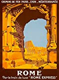 A SLICE IN TIME 1921 Rome Italy Italian Europe Vintage Art Travel Advertisement Poster Print (Kitchen)