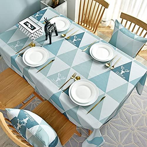 XXDD Mantel geométrico Rectangular Decorativo Cocina Mesa de Comedor Cubierta Impermeable hogar Escritorio paño A1 140x180cm