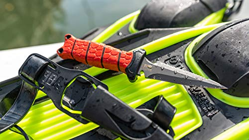 """BUBBA 3.5"""" Pointed Dive and spearfishing Knife with Non-Slip Grip Handle"""