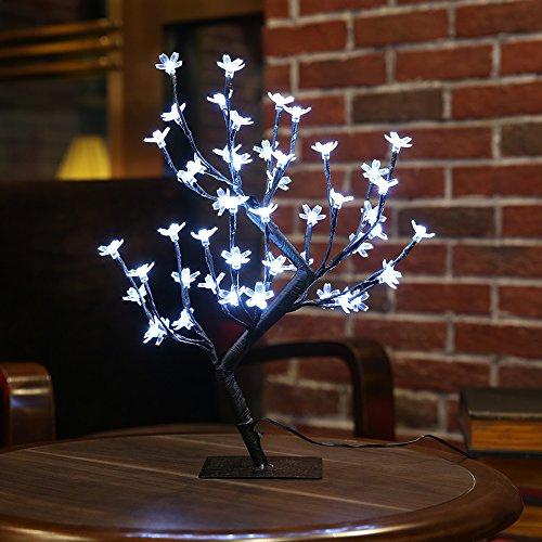 Zanflare LEDツリーライト 桜 48LED 花盆栽 電池式+USBポート テーブルランプ 高さ45cm 電飾 枝ツリー おしゃれ 間接照明 インテリア イルミネーション クリスマス 新年 イベント パーティー おうち時間
