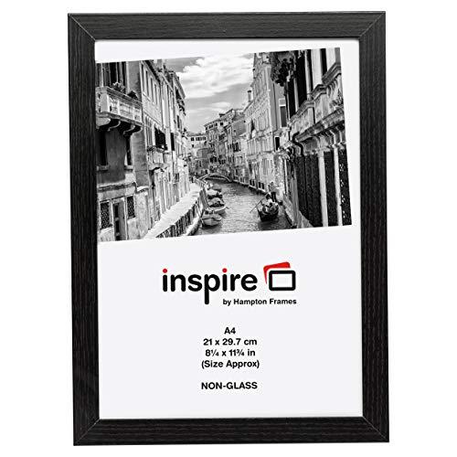 Inspire pour Business Kent 21 x 30 cm A4 Pelle facile Cadre photo/poster – Noir