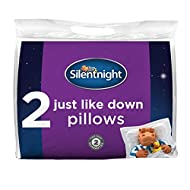 JUST LIKE DOWN FILLING: Each pillow is filled with soft-touch hollowfibre to provide a down like feel for extra comfort and warmth for the perfect night's sleep HYPOALLERGENIC: The pillows are hypoallergenic which means they don't contain any materia...
