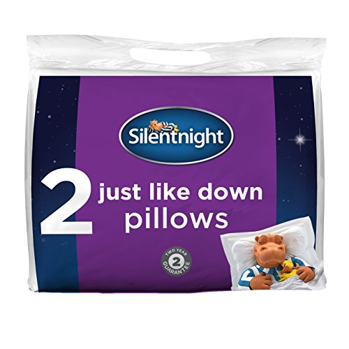 Silentnight Just Like Down Pillow Pack of 2 - Hotel Bed Sleep Pillows...